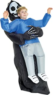 Morph Costumes - Kids Grim Reaper Pick Me Up Kids Inflatable Costume - Great Illusion Fancy Dress Outfit One size fits most Children upto 5ft