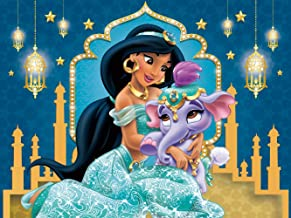 Jasmine Backdrop | Aladdin Background | Disney Princess | for Girl | Birthday | Party Supplies | Banner