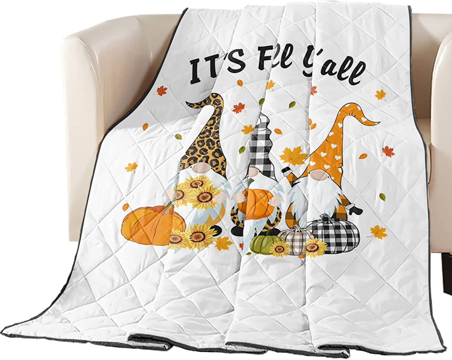 Luck Sky Premium Coverlet Diamond Las Vegas Mall Manufacturer direct delivery Gnome Quilted Stitched 88x88in