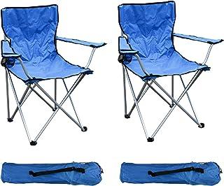 Asteri Chaise de Camping Pliante Confortable Inclinable Pliable Chaises Porte-Gobelet Table Dappoint D/étachable et Sac de Transport pour Activit/és Ext/érieures