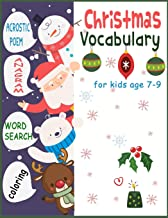 Christmas Vocabulary for kids age 7-9 Acrostic poem Anagram word search coloring (Christmas Vocabulary Activity Book for kids age 7-9 Acrostic poem Anagram word search coloring)