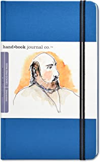 Global Art Materials 721412 8-1/4-Inch by 5-1/2-Inch Drawing Book, Large Portrait in Ultramarine Blue