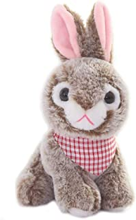 Plush Rabbit Bunny Stuffed Animals Toys Dolls Brown 8 Inches