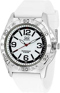 Q&Q Men's White Dial Rubber Band Watch - Q790-304Y, Analog Display