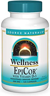 Source Naturals Wellness EpiCor with Vitamin D-3 for Heightened Immune Defense - 120 Capsules