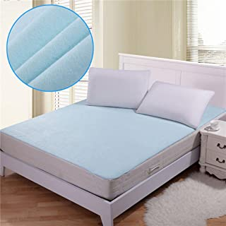 Rite Clique Non-Woven Waterproof Hypoallergenic Mattress Protector for King Size Bed (Blue, 72x78-inch)
