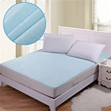 Rite Clique Waterproof Double Bed Mattress Protector Sheet with Elastic Straps (Sky Blue)