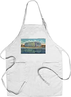 Rock Island, Illinois - Exterior View of the New Armory (Cotton/Polyester Chef's Apron)