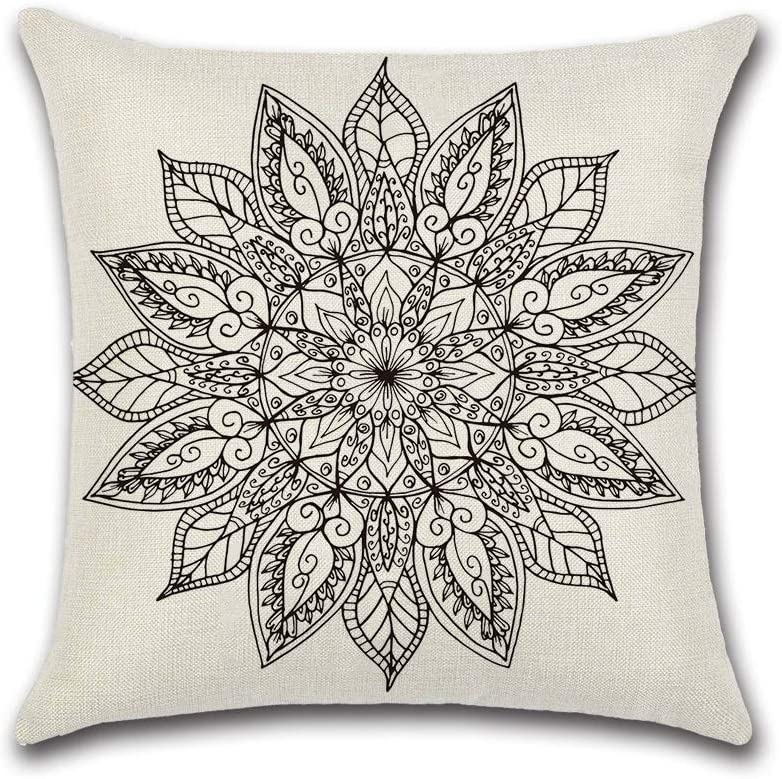 HXF- Cushion OFFicial store Cotton Comfortable Fabric Material Indianapolis Mall Black Bohemian