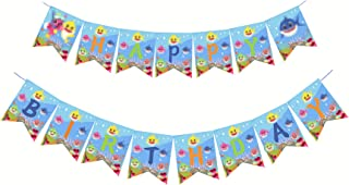 Party Nice Cute Shark Happy Birthday Banner Party Supplies For Kids and Adults Birthday Party Decorations Party supplies.