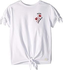 Tie Tee - Contrast Poplin Classic Jersey (Big Kids)