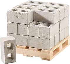 Mini Materials Miniature Cinder Blocks with Pallet, 24 Blocks