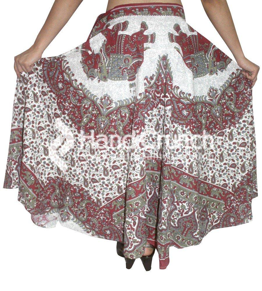 Falda larga de algodón de Boho Rapron, falda étnica del abrigo de ...
