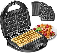 Godmorn 4-in-1 wafelijzer, wafelautomaat, wafelmaker, sandwich-broodrooster, panini-machine, donut-productiemachine, antia...