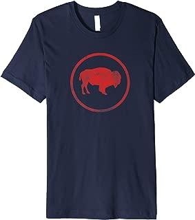 Vintage Retro Bison American Buffalo Simple Minimalist Premium T-Shirt