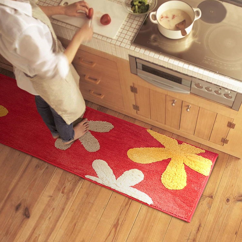 -Slide water-absorbing padded kitchen mat  bathroom bathroom door mats  bedroom bed foot mat-B 45x180cm(18x71inch)