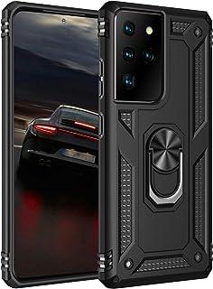 Hoes voor mobiele telefoon voor Samsung Galaxy S21 Ultra 5G militaire standaard beschermhoes 360 graden ringstandaard stoo...