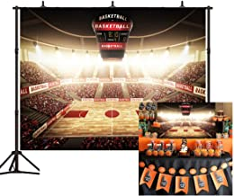 Basketball Court Backdrop 7x5ft Sports Photo Background for Basketball Grad Party Video Studio Props Photo Props BT020