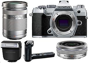 Olympus OM-D E-M5 Mark III Mirrorless Digital Camera Body, M.Zuiko Digital ED 14-42mm f/3.5-5.6 EZ Lens, M.Zuiko Digital E...