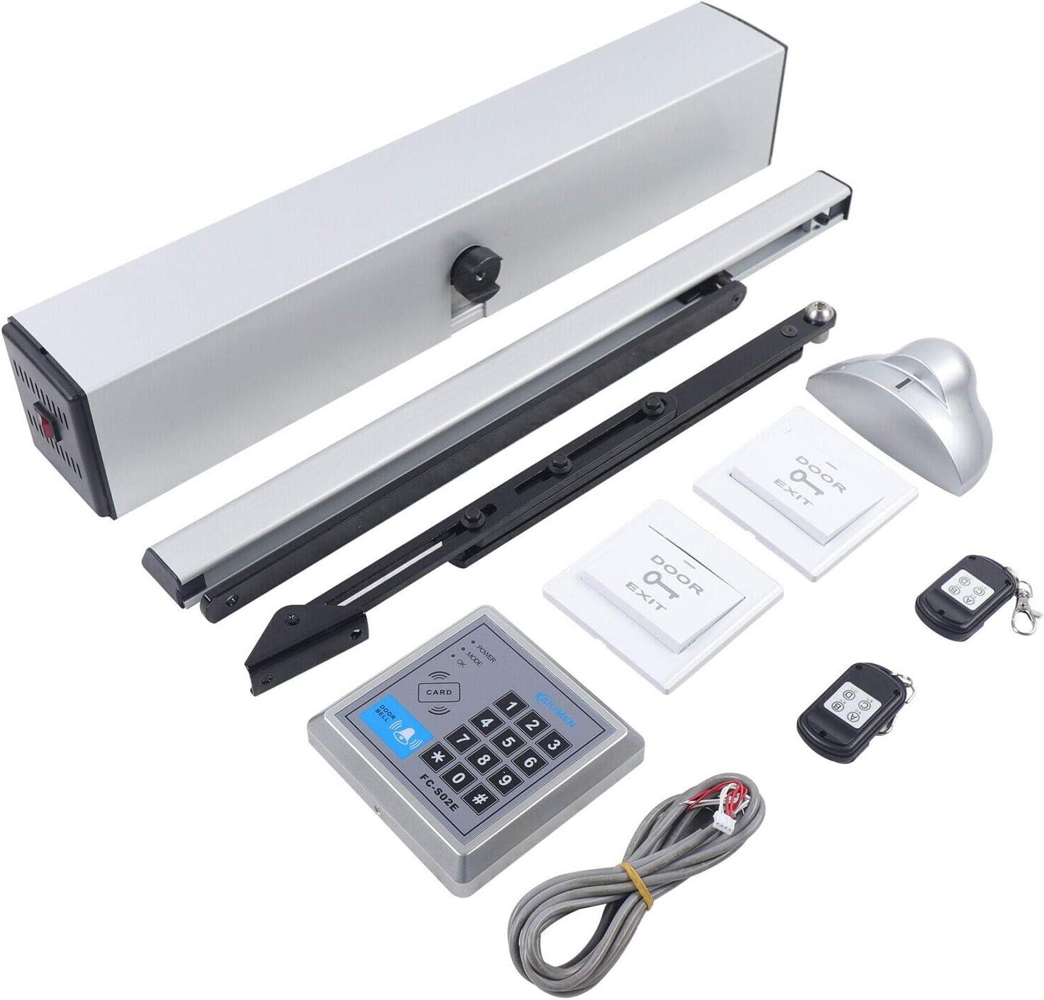 Cerradura eléctrica para puerta automática, con mando a distancia, 50 W, motor de corriente continua de 24 V