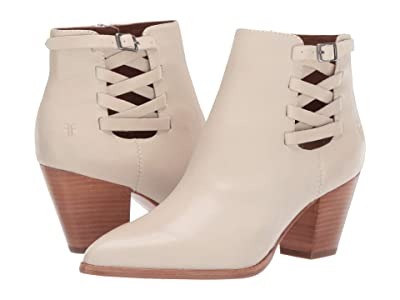 Frye Reed Strappy Bootie (Off-White Polished Soft Full Grain) Women