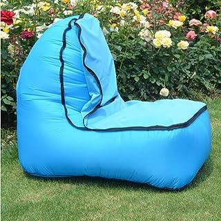 TZTED Hinchable Tumbona Hinchable sofá Inflable Cama con el Paquete Portable para Viajar, Acampar, Senderismo, Piscina y Partidos de la Playa
