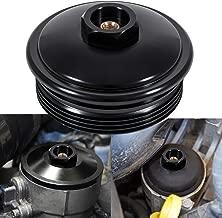 Fuel Filter Cap Black Aluminum (Secondary Fuel Filter Cap) For 2003-2007 Ford 6.0L Powerstroke Diesel F250 F350 F450 F550