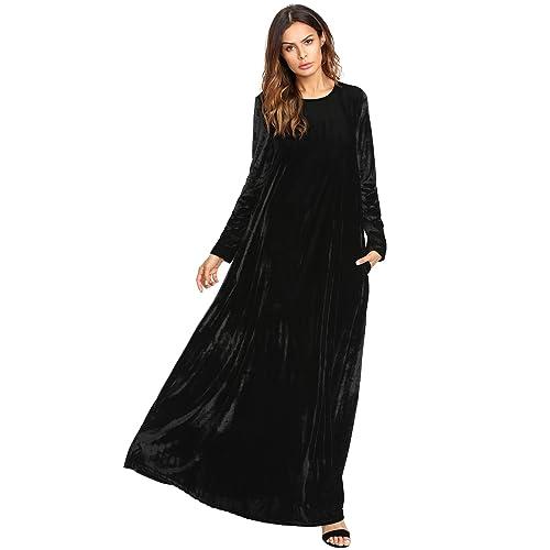 Black Velvet Maxi Dress Amazon
