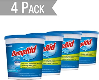 DampRid DR Moist ABS 10.5OZ FF 4PK - SIOC Moisture Absorber, 4 Pack, Blue, 10 Ounces