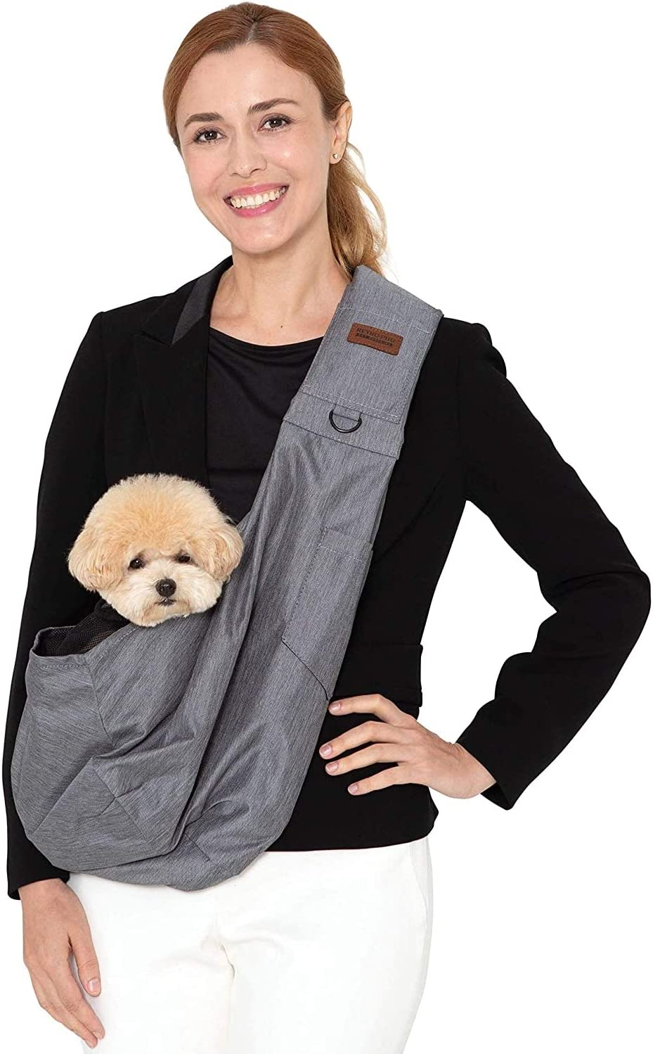 21. Retro Pug Dog Sling Carrier for Small and Medium Dogs