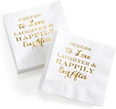 Hortense B. Hewitt Wedding Accessories Paper Napkins, 4.75-Inch (Folded), Happily Ever After, 50-Count