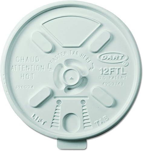 Dart 12FTL ventilé en mousse couvercles pour 10–396,9gram en mousse Tasses, Lift N 'Lock Couvercle