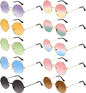 Blulu 10 Pairs Round Hippie Sunglasses John 60's Style...