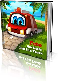 """Personalized Story Book by Dinkleboo -""""The Little Red Firetruck"""" - Teaches Your Child About Helping Others - for Children ..."""