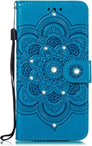 Bear Village  Case Compatible with Galaxy Note Cover with Credit Card Slot  Magnetic Closure and Kickstand Function  Case for Samsung Galaxy Note Blue