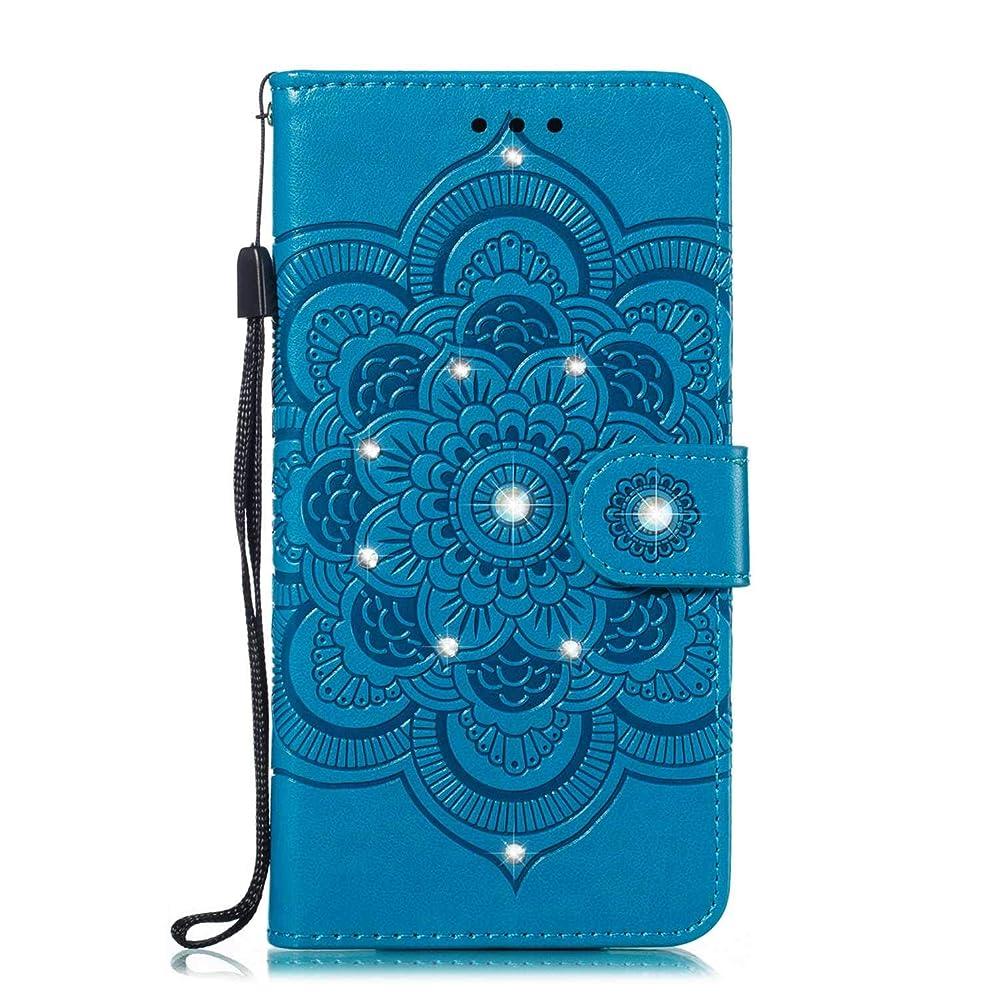 文化故国形容詞CUNUS 高品質 合皮レザー ケース Huawei Honor 10i 用, 防塵 ケース, 軽量 スタンド機能 耐汚れ カード収納 カバー, ブルー
