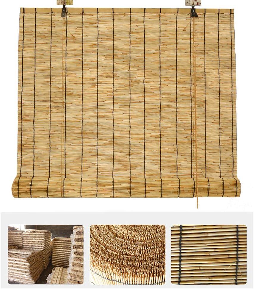 NIANXINN 激安セール Natural Reed Curtain Vintage Bamboo 在庫一掃 Decoration Roller B