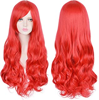 Long Red Curly Wig for Women Wavy Wig for Halloween Costume Cosplay Women Girls Kids