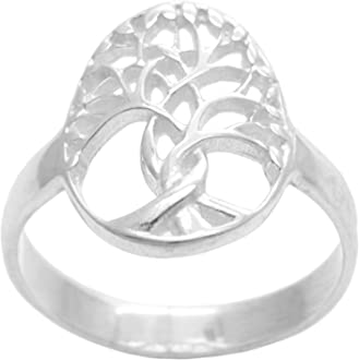 Silverly Womens Mens .925 Sterling Silver 13 mm Celtic Knot Curb Chain Link Biker Chunky Ring