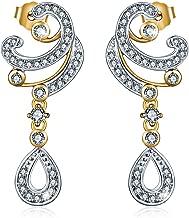 Aurora Tears 925 Sterling Silver Drop Dangle Earrings Women Hook Earrings Crystal Cubic Zirconia Girls Dating Gift Jewelry