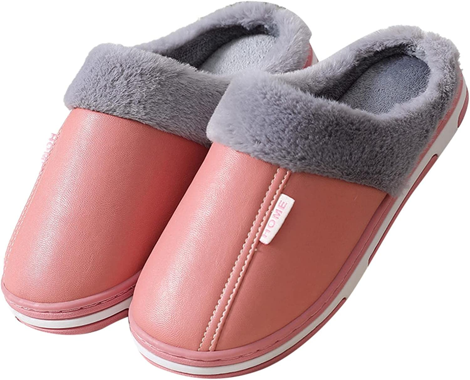 House Slippers for Women,Womens Fuzzy Slippers Memory Foam Fluffy Soft Warm House Slippers Cozy Plush Indoor Outdoor