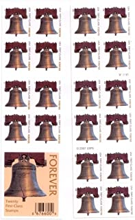 USPS Forever Stamps Liberty Bell 100 Stamps (5 Books of 20)