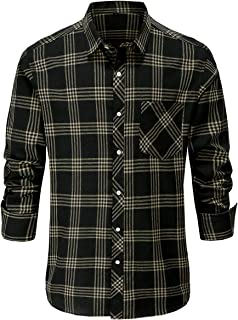 Sponsored Ad - Jandukar Mens Plaid Shirts Long Sleeve Checkered Shirts for Men