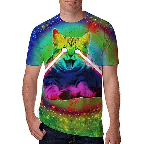 1825e6eb7e4c4 Leapparel Unisex Short Sleeve 3D Digital Printed Personalized T Shirts Tees