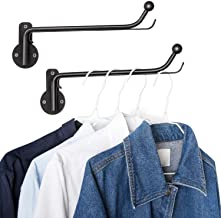 Mkono Wall Mounted Clothes Hanger with Swing Arm Holder Valet Hook Metal Hanging Drying Rack Space Saver for Closet Organi...