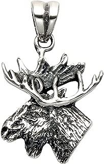 Stainless Steel Moose Head Pendant