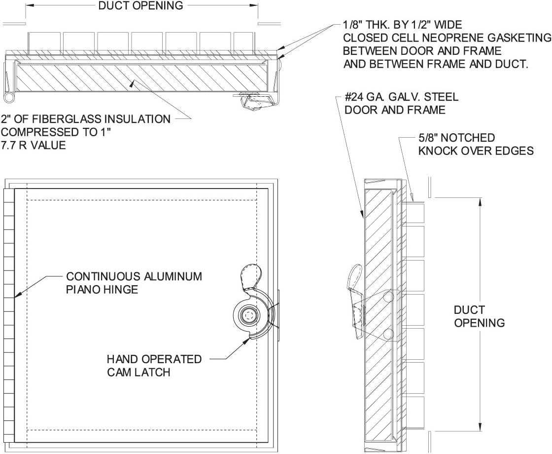 Best 10 x 10 Hinged Duct Access Door