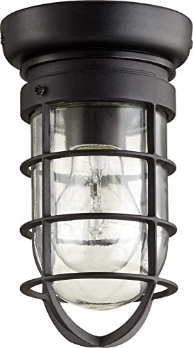 new arrival Quorum high quality 7282-69 Restoration One online sale Light Ceiling Mount from Bowery Collection in Bronze / Dark Finish, online sale