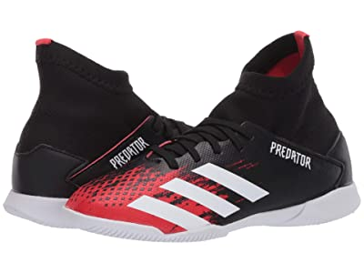 adidas Kids Predator 20.3 IN J Soccer (Little Kid/Big Kid) (Black/White/Active Red) Kids Shoes
