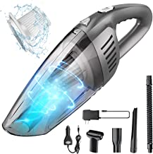 Portable Cordless Handheld Vacuum Cleaner, 8000PA Strong Suction, 120W High Power, Wet & Dry Use, Quick Cleaning for Car, ...